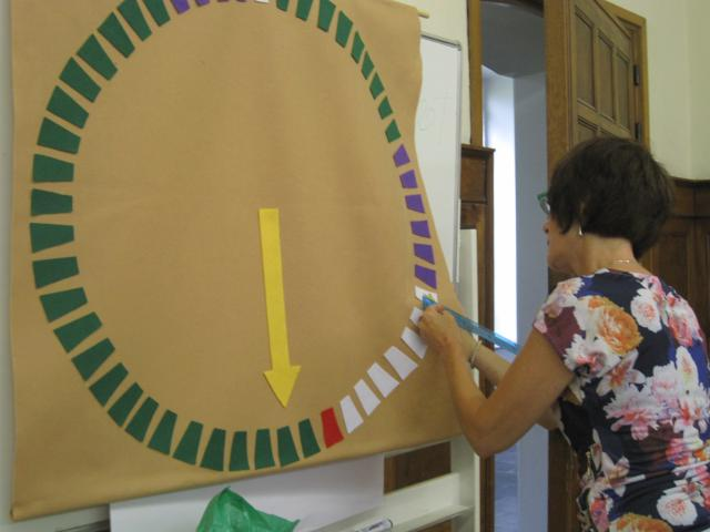 DIY Wandkalender cirkel van het kerkelijk jaar © Kathleen Hoebregts