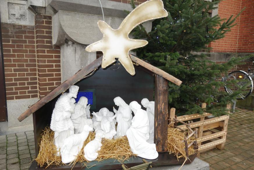 Kerststal  in open lucht Sint-Antonius