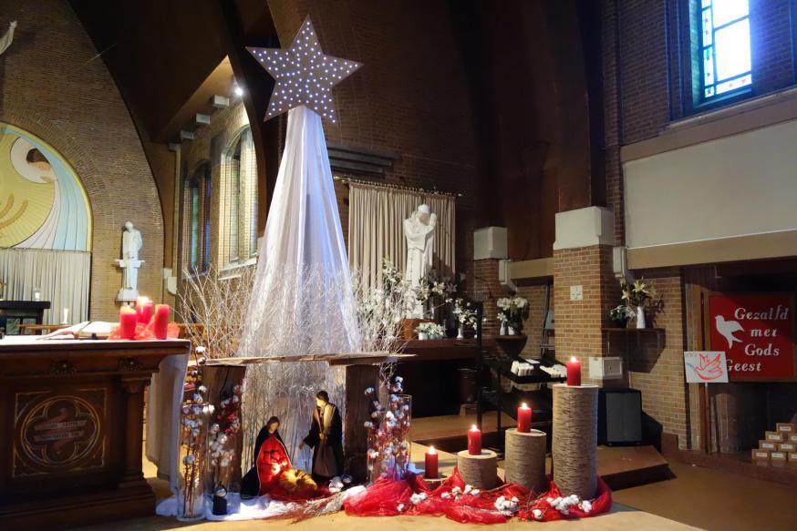 Kerststal in de kerk Sint-Antonius