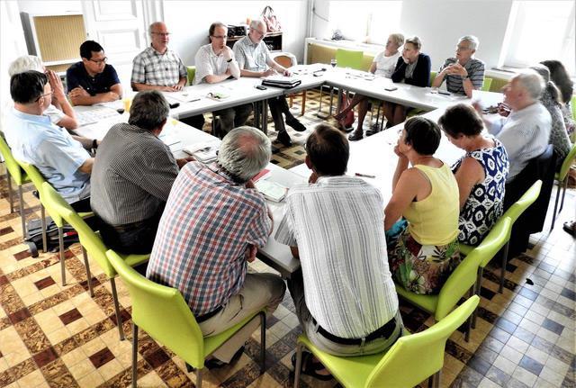 Vergadering zoneploegen van Bierbeek, Boutersem en Oud-Heverlee, samen met Stefaan Callebaut © H.H.