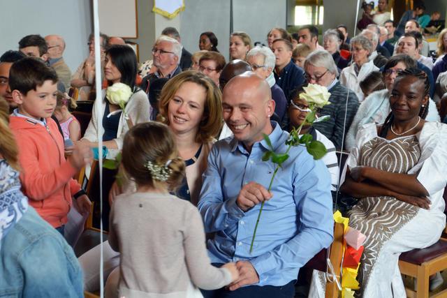 Dank je mama, dank je papa, voor jullie heb ik een roos © Mandy Van Haaren
