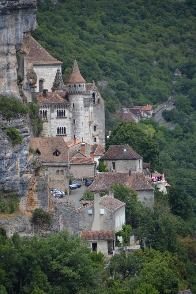 zicht op het heiligdom van Rocamadour  © Christa Damen