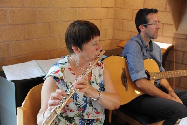 De muzikanten: Lieve en Koen © Johan Engels