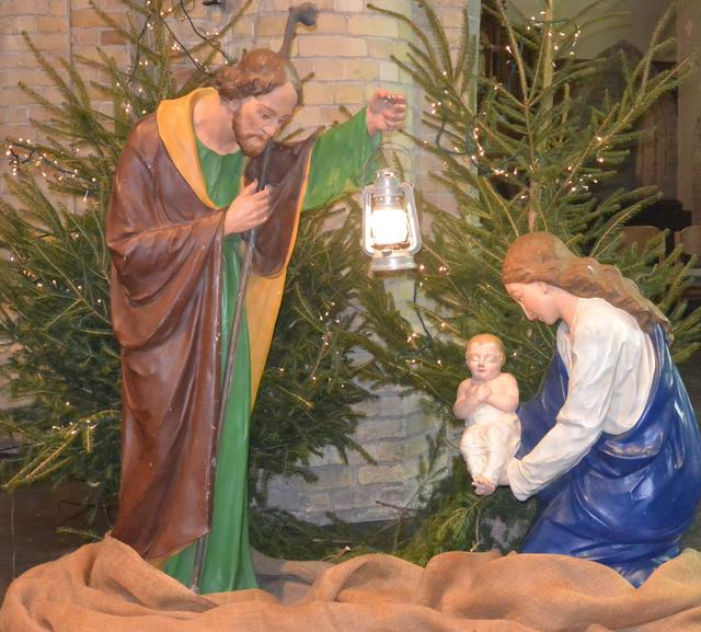 Kerststal kerk Vladslo