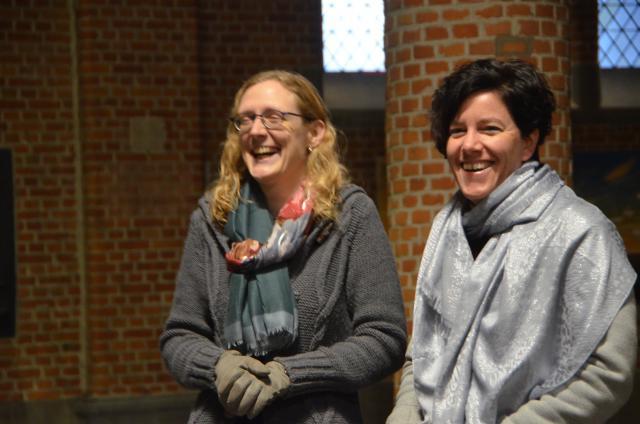 Organiste An Faems en koorleidster Anja Dierckx © Mariette Dhondt