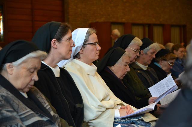 Dit jaar waren zelfs enkele novicen aanwezig op de Dag van de Religieuzen.  © Tony Dupont