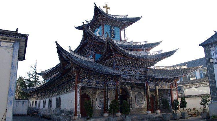 Een katholieke kerk in Dali (China) © Vatican Media