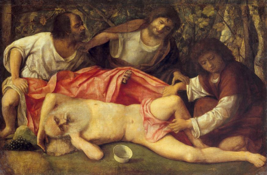 Giovanni Bellini, Dronkenschap van Noah. © Wikicommons