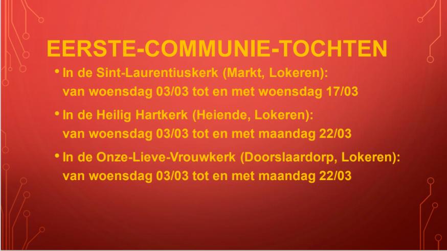 Eerste Communie 2020-2021