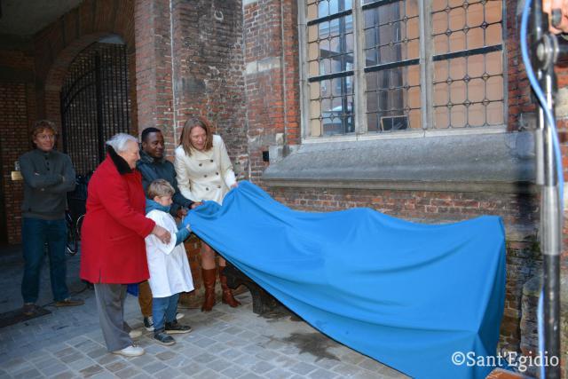 Inhuldiging van het beeld van de Dakloze Jezus © Sant'Egidio
