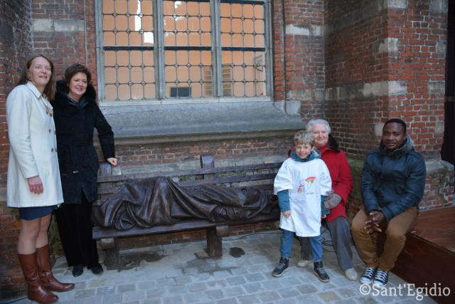 Antwerps schepen van cultuur en erediensten Caroline Bastiaens en Sant'Egidiovoorzitter Hilde Kieboom © Sant'Egidio