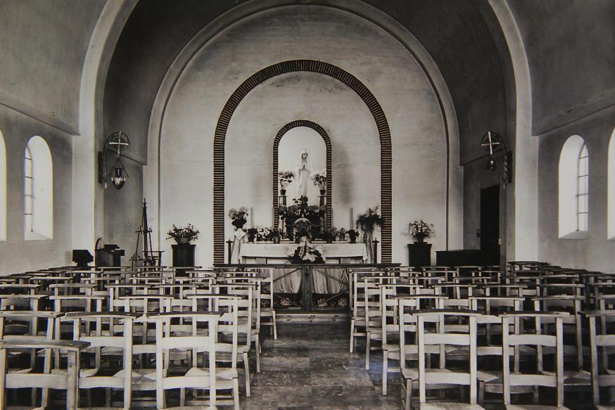 Het eindresultaat van de binnenkant van de kapel.