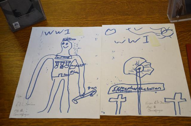 Tekening van de 8-jarige Eli Davison: Remember the Fallen © Hellen Mardaga