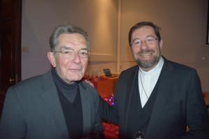 Emeritus bisschop van Luik Aloys Jousten met zijn opvolger Jean-Pierre Delville © Bisdom Luik