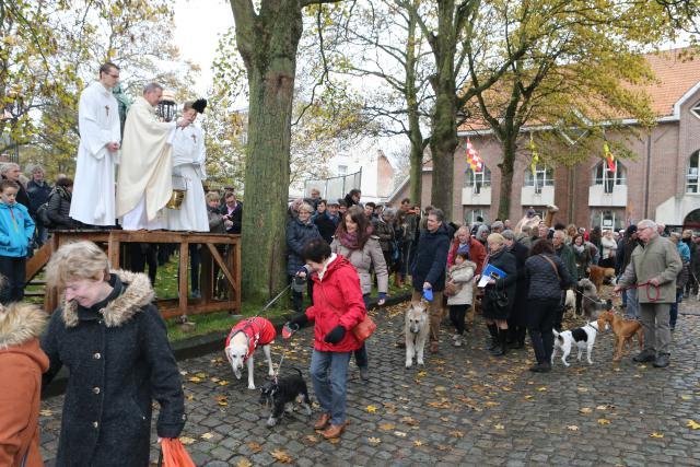 Sint-Hubertus wijding dieren