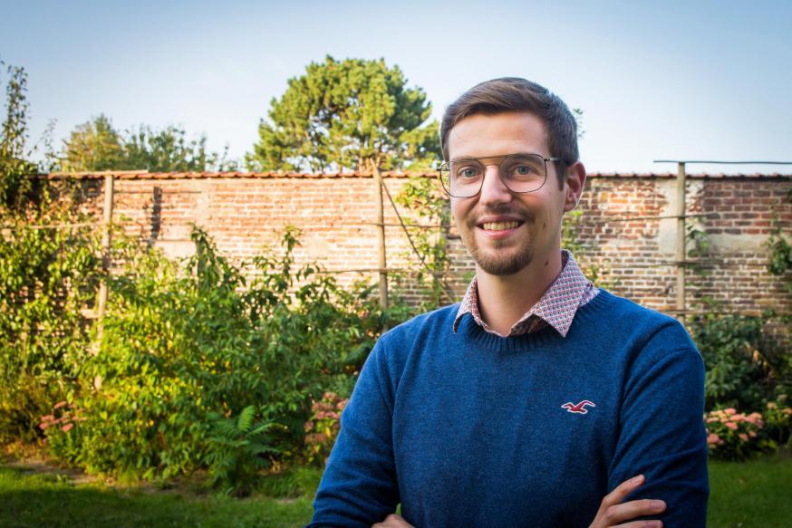 Mathias Dick, seminarist uit bisdom Gent.  © Karel Van de Voorde