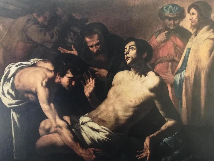 """""""De marteldood van de H. Laurentius"""", Hendrick De Somer (Lokeren, 1602 – Napels, 1656)"""