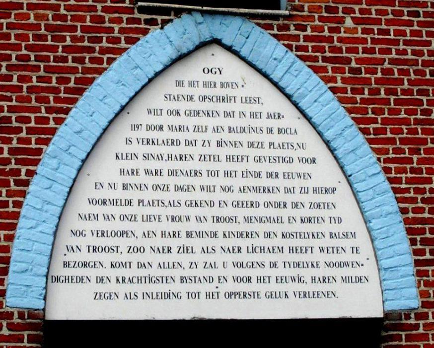 Opschrift kapel Pannenhuisstraat