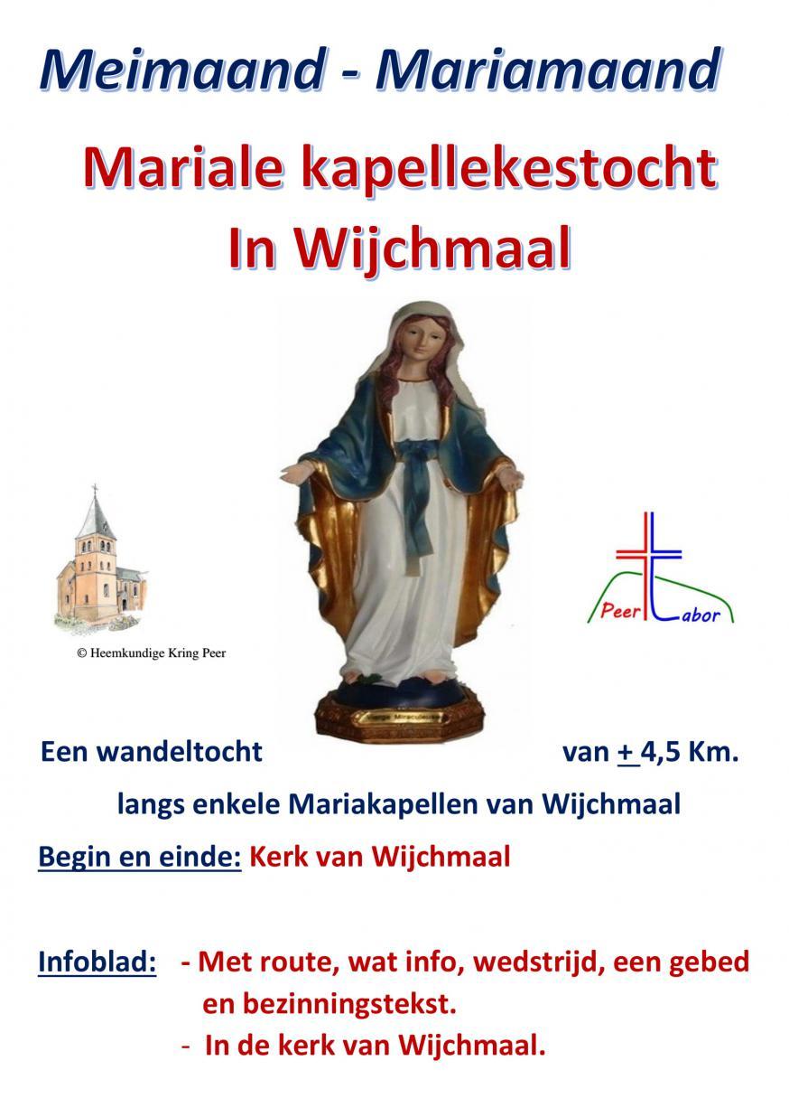 Mariale kapellekestocht in Wijchmaal © Parochie Wijchmaal