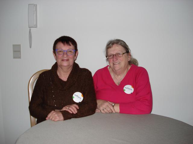 Myriam en Monique van het bestuur van Samana  © Lydia Van Buggenhout
