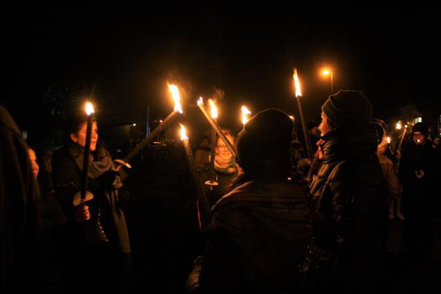 In Wauberg brachten 1200 Limburgse jongeren een sterk teken van hoop. © Bisdom Hasselt