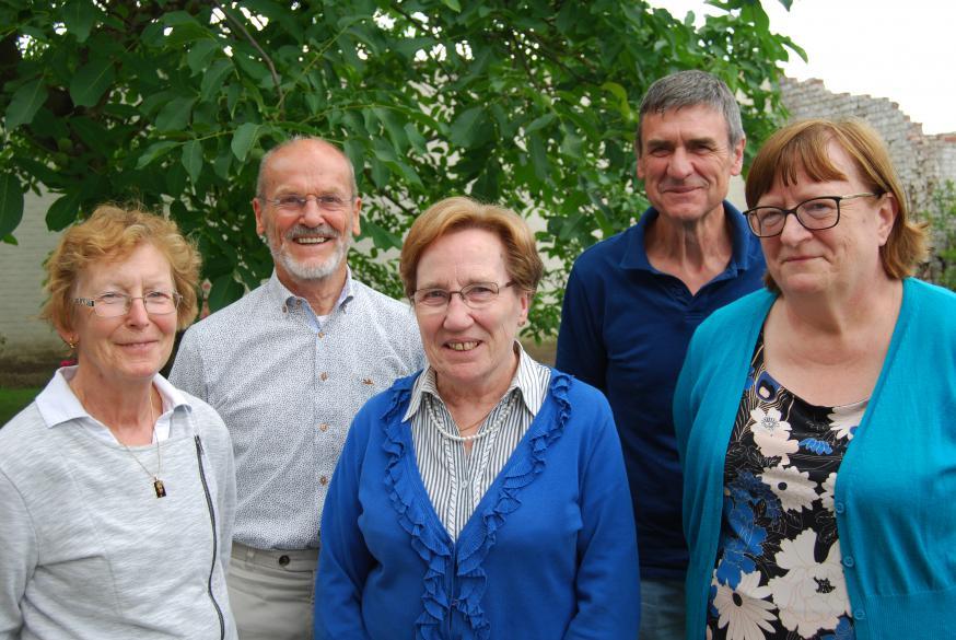 De leden van het secretariaat. © D.Decuypere
