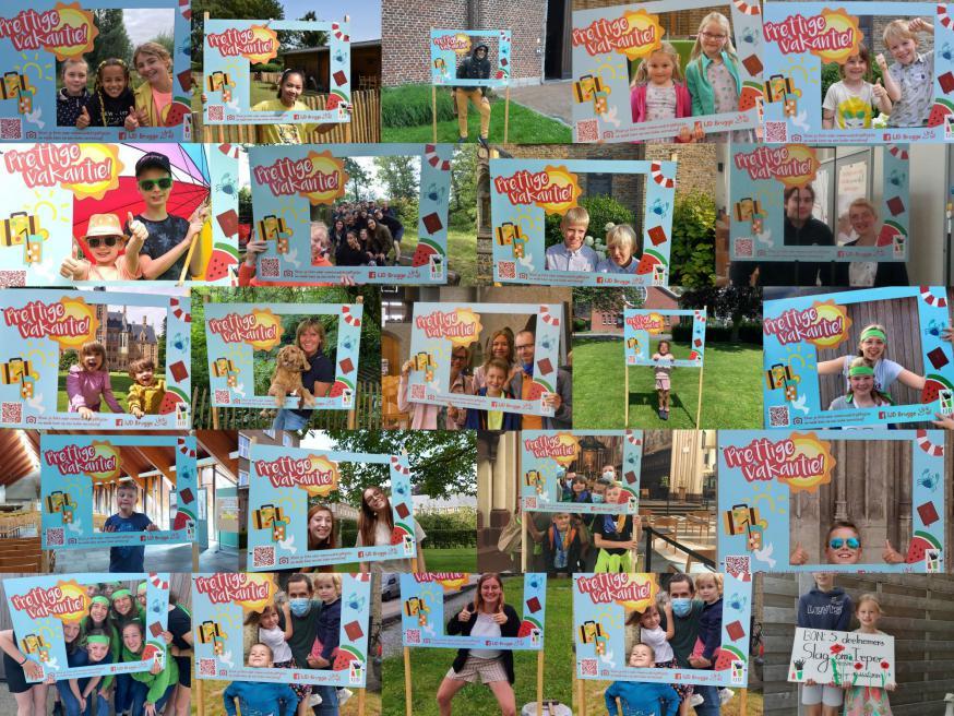 Collage van de foto's met het fotoframe van IJD