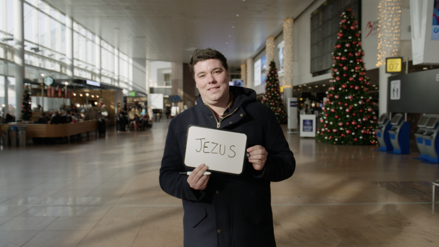 Isaac wachtend op Jezus in Zaventem