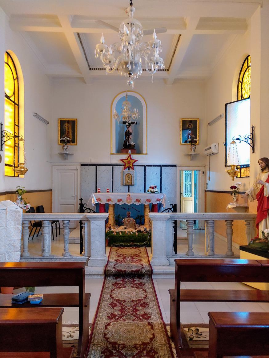 Kapel van het franciscanessenklooster in Damietta (Egypte) © Barbara Mertens