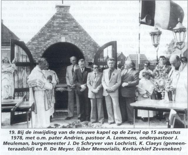 Zavelkapel, met oprichter Marcel Temmerman (tweede van links op rij van 4 personen) © BavoPar