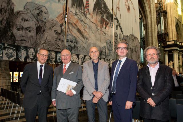 Ludo Colin, Jozef Dauwe, Luis Rivera, Christopher Drexeler en Oskar Stocker. © Klipp/Heimo Ruschitz