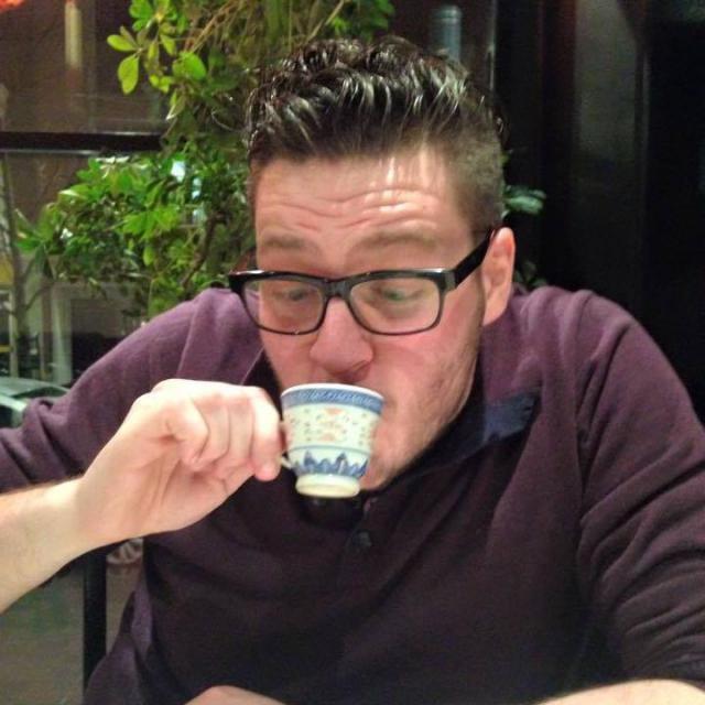 Gilles houdt van koffie!