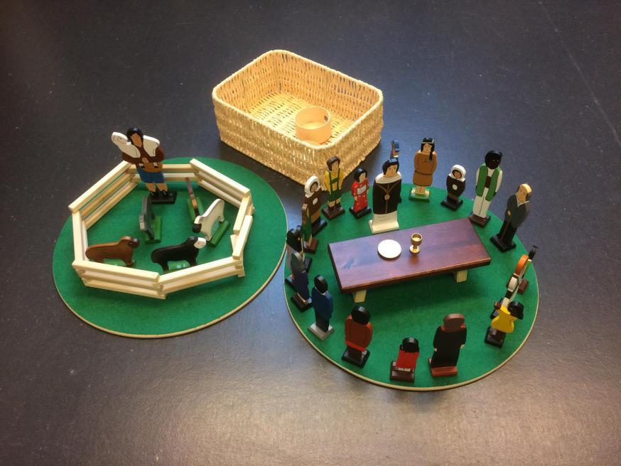 Godly Play - De goede Herder en de wereldgemeenschap. © Joke Vermeire