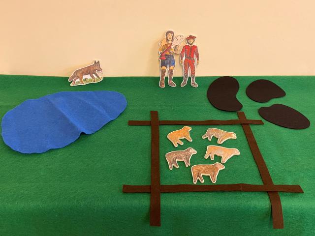 Godly Play Parabel van de goede herder © Els Agten