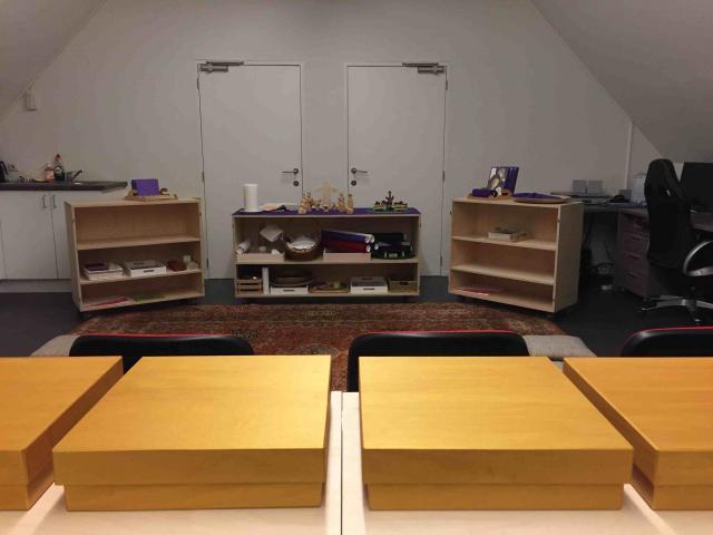 Godly Play ruimte in het Bijbelhuis in Zevenkerken © Katie Velghe