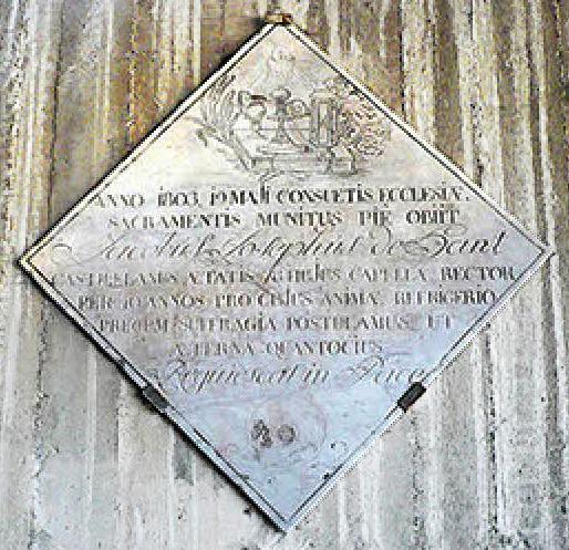 In 1863 op 19 mei, gesterkt door de sacramenten van de kerk, overleed Jacobus De Hant op 78 jaar rector van deze kapel. Dat hij ruste in vrede