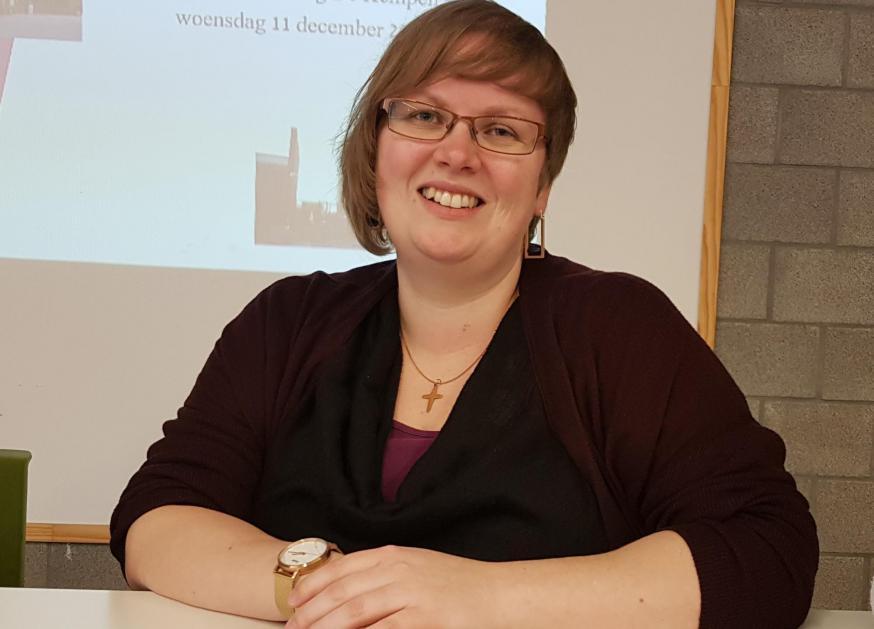 Hanne Jacoks, katholiek aalmoezenier in de gemeenschapsinstelling De Kempen in Mol © GL
