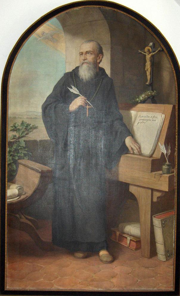 Benedictus van Nursia. © Wikipedia