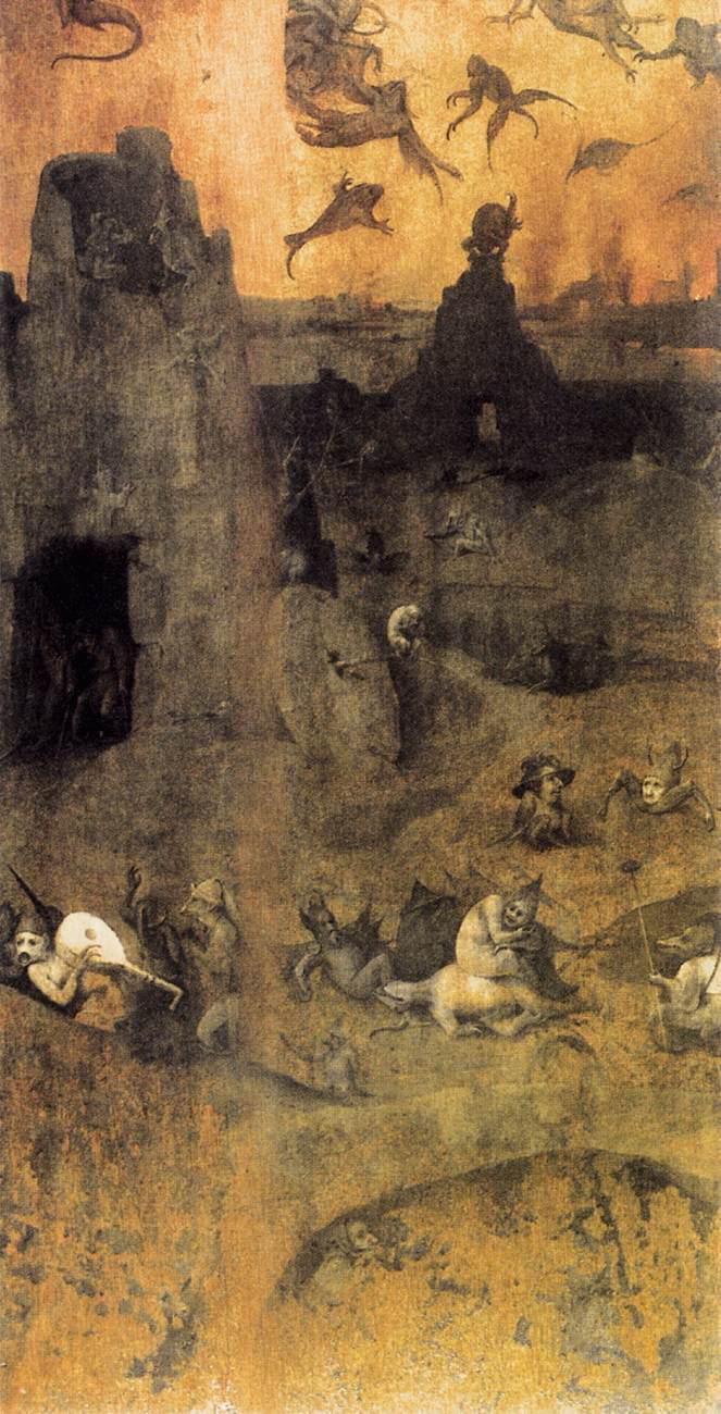 Hieronymus Bosch, De val van de rebelse engelen. © Wikicommons