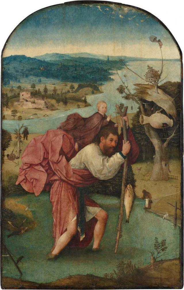 De heilige Christoffel op een schilderij van Jeroen Bosch © Wikimedia