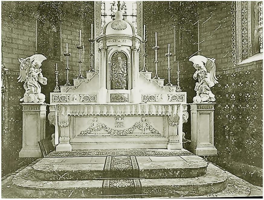 Het Hoofdaltaar in 1860
