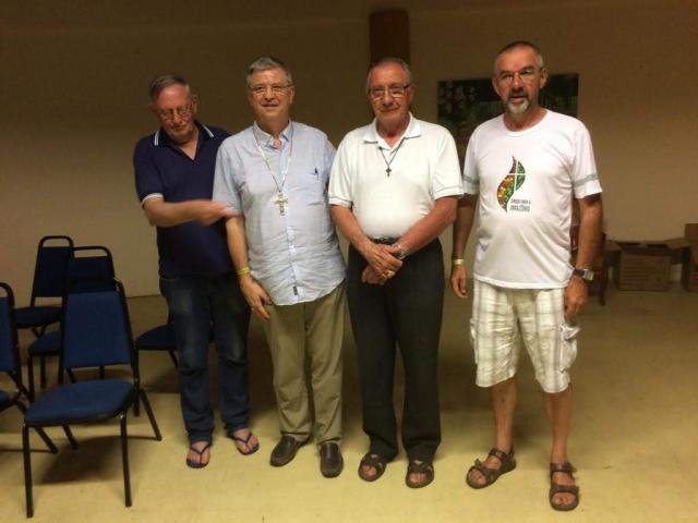 Met de drie Belgisch bisschoppen in Brazilië  © Mgr. Johan Bonny