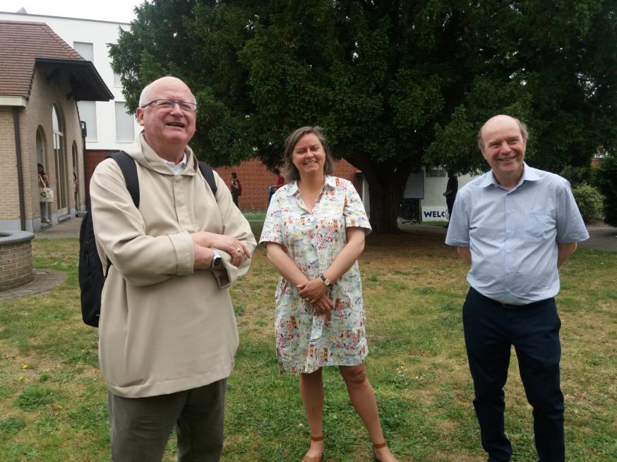 Bisschop Lode en prof Van Huylenbroeck © OBSG