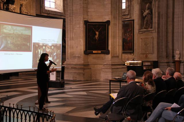 Presentatie inventarisering door CRKC-Parcum © Bisdom Gent, foto: Ellen Eeckhout