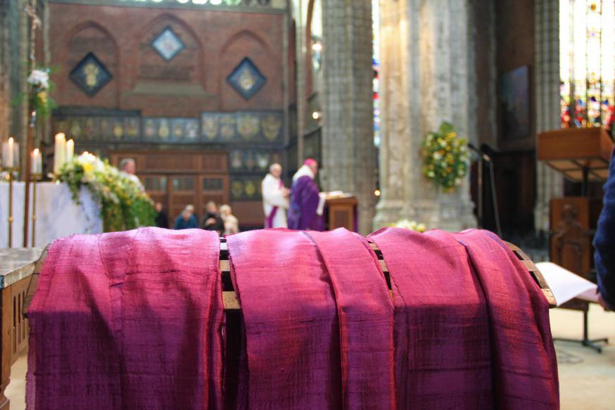 Naamopgave catechumenen 2020 © Bisdom Gent, foto: Ellen Eeckhout