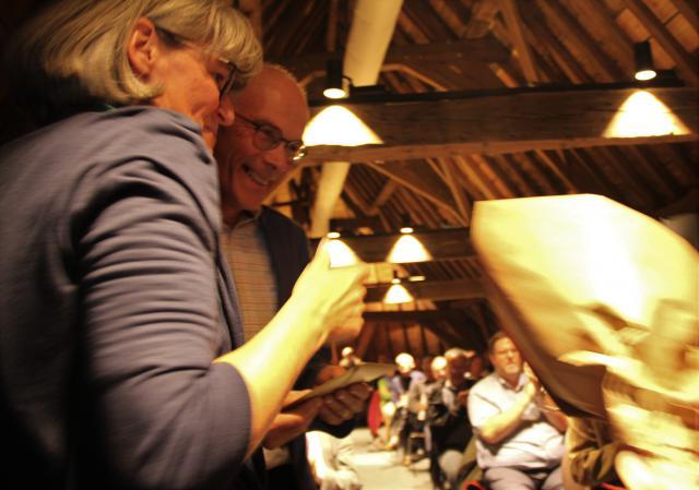 Paul Van Haute, hier met directeur Kathleen Martens © Bisdom Gent, foto: Ellen Eeckhout