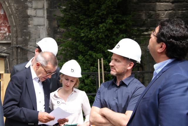 Rector Ludo Collin met Philippe Depotter van Bressers arcitecten © Bisdom Gent, foto: Ellen Eeckhout