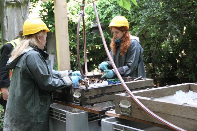 Archeologen aan het werk © Bisdom Gent, foto: Ellen Eeckhout