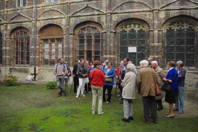 Tijdens de rondgang in de abdij © Gracy Peelman