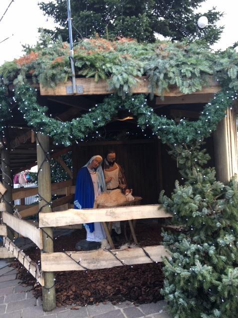 Kerststal markt Ronse